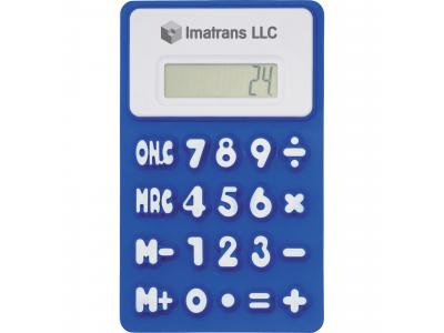 Promotional Giveaway Technology | The Flex Calculator Royal Blue