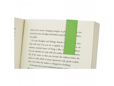 Promotional Giveaway Office | Magnetic Bookmark Lime Green