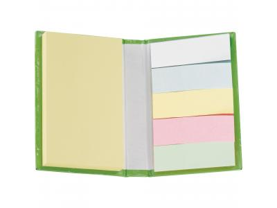Promotional Giveaway Office | Lil Sticky Notes Book Lime Green open