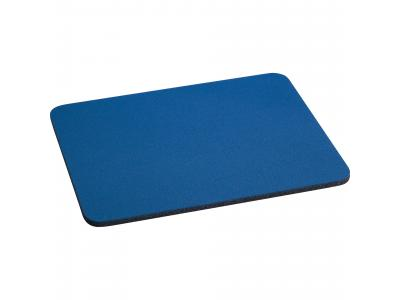 "Promotional Giveaway Office | 1/4"" Rectangular Rubber Mouse Pad Blue"