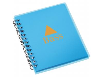 Promotional Giveaway Office | The Duke Spiral Notebook Translucent Blue