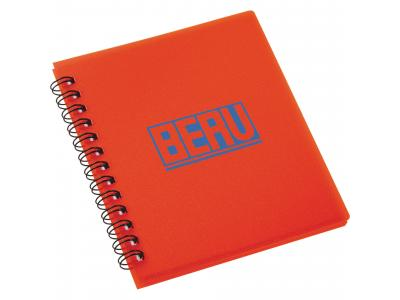 Promotional Giveaway Office | The Duke Spiral Notebook Translucent Red