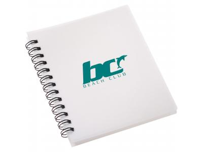 Promotional Giveaway Office | The Duke Spiral Notebook White