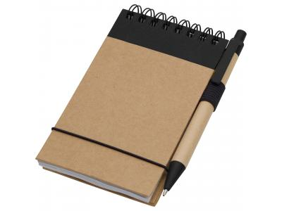 Promotional Giveaway Office | The Recycled Jotter & Pen Natural with Black Trim