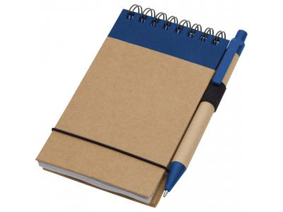 Promotional Giveaway Office | The Recycled Jotter & Pen Natural with Blue Trim