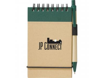 Promotional Giveaway Office | The Recycled Jotter & Pen Natural with Green Trim