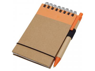 Promotional Giveaway Office | The Recycled Jotter & Pen Natural with Orange Trim