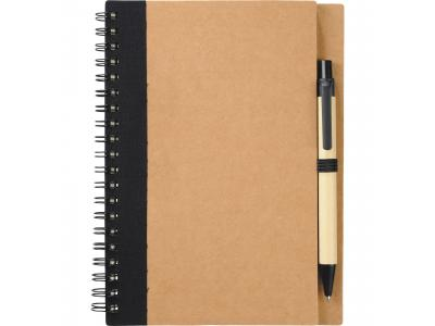 Promotional Giveaway Office | The Eco Spiral Notebook & Pen Black