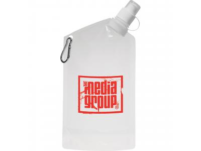 Promotional Giveaway Drinkware | Cabo 20-Oz. Water Bag With Carabiner Clear