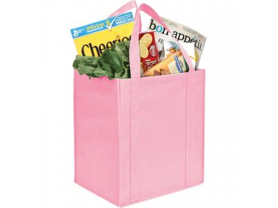 Promotional Giveaway Bags | The Hercules Grocery Tote Pink