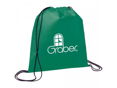 Promotional Giveaway Bags | The Evergreen Drawstring Cinch Backpack Green