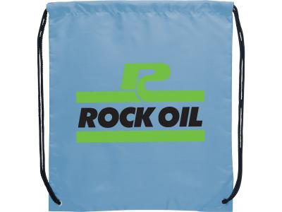 Promotional Giveaway Bags | The Oriole Drawstring Cinch Backpack Light Blue