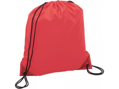 Promotional Giveaway Bags | The Oriole Drawstring Cinch Backpack Red