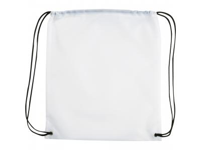 Promotional Giveaway Bags | The Oriole Drawstring Cinch Backpack White