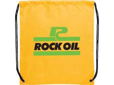 Promotional Giveaway Bags | The Oriole Drawstring Cinch Backpack Yellow