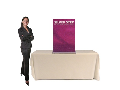 SilverStep 24 Inch Table Top Banner Stand