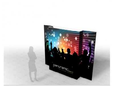 Panoramic Wall 10B | Trade Show Displays