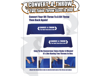 Convert-a-Throw Table Throw - Trade Show Display Accessories