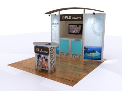 Custom Modular Hybrid Displays | VK-1053 10 Ft Visionary Designs