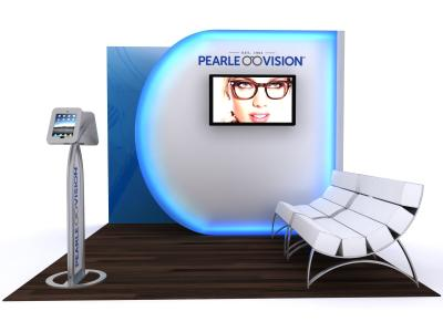 Custom Modular Hybrid Displays | VK-1116 Hybrid Booth 10 Ft Visionary Designs