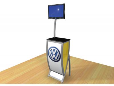 Perfect 10 - VK-1603 Pedestal | Custom Modular Hybrid Displays