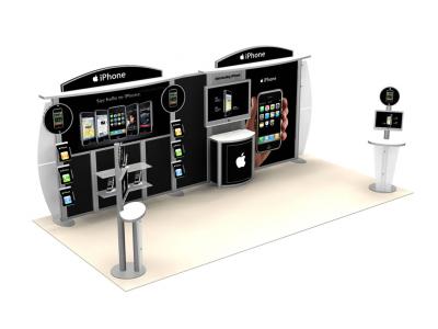 Custom Modular Hybrid Displays | VK-2044 20 Ft Visionary Designs