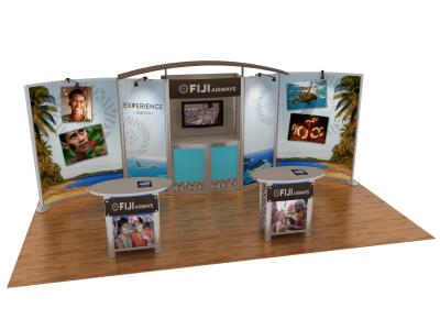 Custom Modular Hybrid Displays | VK-2066 Hybrid Booth 20 Ft Visionary Designs
