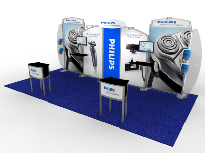 VK-2117 Sacagawea Tension Fabric Displays | Trade Show Displays