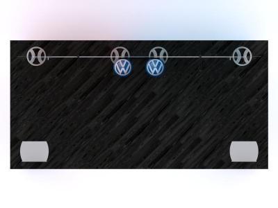 Custom Modular Hybrid Displays | VK-2963 Portable Hybrid Floor Plan