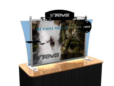 Table Top Display | VK-1291 Sacagawea Tension Fabric Displays