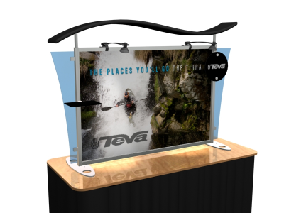 VK-1292 Sacagawea Tension Fabric Displays | Table Top Display
