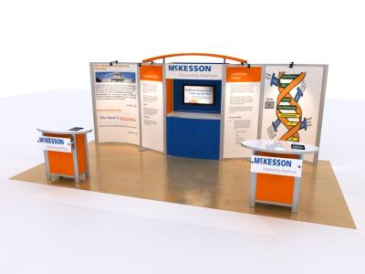 10 x 20 version of Visionary Designs Hybrid Exhibit | Trade Show Displays