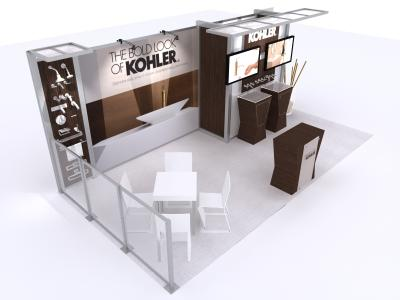 VK-2921 20 Ft Visionary Designs   | Trade Show Displays