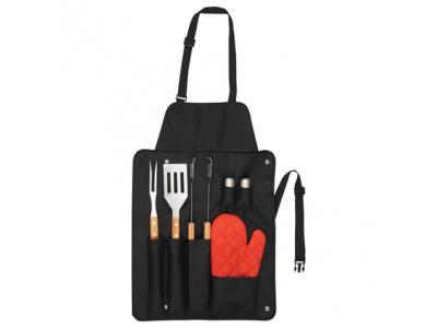 Promotional Giveaway Gifts & Kits | BBQ Now Apron and 3 piece BBQ Set