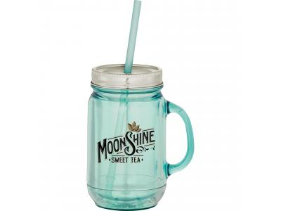 Promotional Giveaway Drinkware | Vintage Double-Wall Mason Jar 20oz