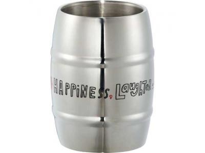 Promotional Giveaway Drinkware   Growl Stainless Barrel Mug 14oz