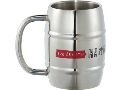 Promotional Giveaway Drinkware | Growl Stainless Barrel Mug 14oz
