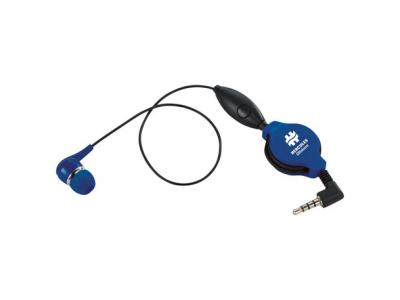 Promotional Giveaway Technology | Retractable Ear bud with Mic