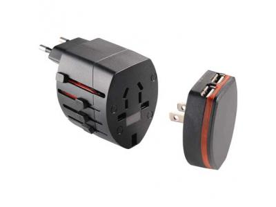 Promotional Giveaway Gifts & Kits | World Travel Adapter with USB Ports