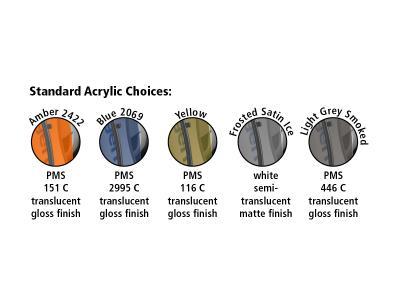 Visionary Design Standard Transparent Acrylic Selections   Trade Show Displays