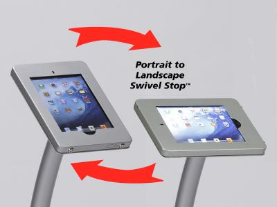 Rotating Swivel Stop Clamshell Frame | Trade Show Displays