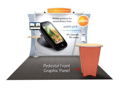 Pedestal Counter Replacement Graphic for the Sacagawea Trade Show Display