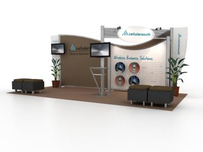 VK-2059 20 Ft Visionary Designs  | Trade Show Displays