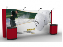 20' Straight Pop Up Displays w/Photo Murals | Pop Up Display