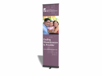 "23.5"" Pronto Banner Stand Replacement Graphic 