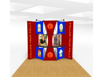 10x10 Push Thru Wide Skin Expressions Pop Up Displays | Trade Show Displays