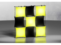 Pop Up Display   XSNAP 3x3 with Lightboxes