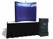6 Ft Fabric Table Top w/Header | Trade Show Displays by ShopForExhibits