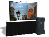8 Ft Table Top w/All Photo Murals | Trade Show Displays by ShopForExhibits