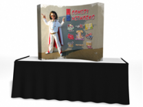 Trade Show Displays | 5' VBurst Curved Frame Table Top